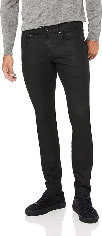G-Star Raw Men's Revend Super Slim-Fit Jean In Black Print Stretch Denim
