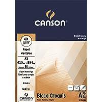 Bloco Croquis Manteiga A2 40g/m², Canson, 66667048, 50 Folhas