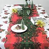dise/ño de velas rojas y verdes 43 x 59 Mantel de Navidad rectangular color blanco Blanco 110cm x 150cm poli/éster