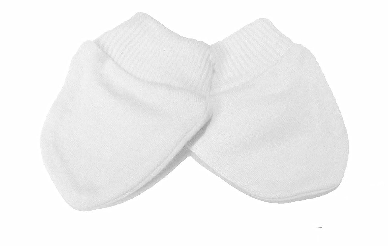 fbbdb7a7c5a9 Lot de 2 moufles anti-griffures pour bébé prématuré Blanc - 100% coton   Amazon.fr  Bébés   Puériculture