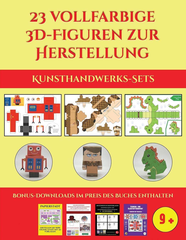 Weihnachtskalender 2019 Für Kinder.Kunsthandwerks Sets 23 Vollfarbige 3d Figuren Zur Herstellung Mit