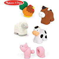 Melissa & Doug Pop Blocs Farm Animals Playset