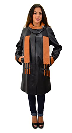 Long Leather Womens Coats
