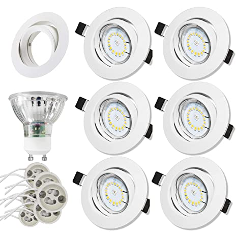 Foco Empotrable | LED Luz de Techo 5W Equivalente a Incandescente 60W | Blanco Frío 6000K ...