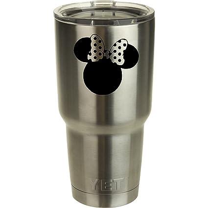 c473cbb6641 Minnie Mouse Yeti Tumbler Decal Walt Disney Disney World Decal Ozark Trail  Tumber Black or White