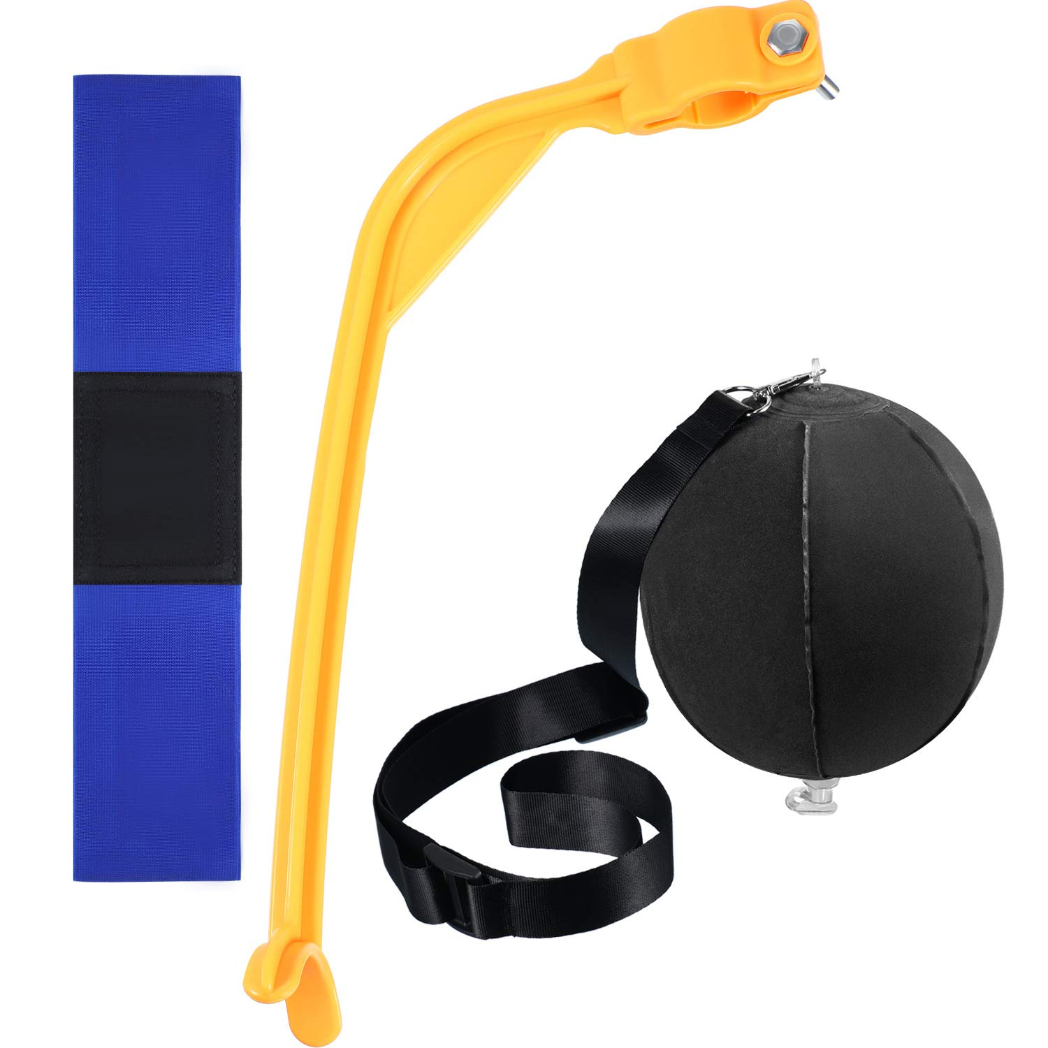 Gejoy 3 Pieces Golf Training Aids Swing Trainer Assist Set Include Golf Impact Ball, Swing Trainer and Golf Swing Band by Gejoy