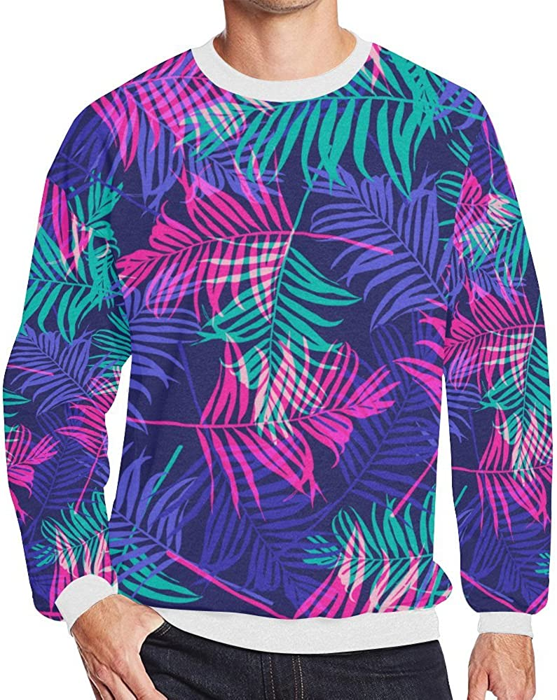 Tropical Floral Printed Mens 3D Pullover Sweatshirt Sizes S-5XL