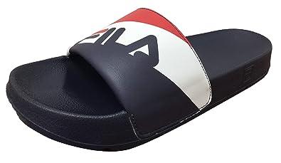 73cdc6b18 Fila Men s Drifter Rugby Red White Navy Slides Flip Flops Sandals ...
