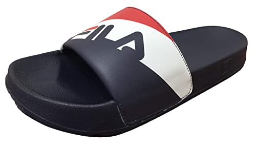 18b7ef32686c Fila Men s Drifter Rugby Red White Navy Slides Flip Flops Sandals ...