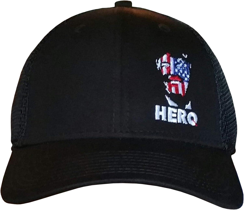 Treefrogg Apparel Hero Trump Hat NewEra Structured Mesh-Back Cap American Flag