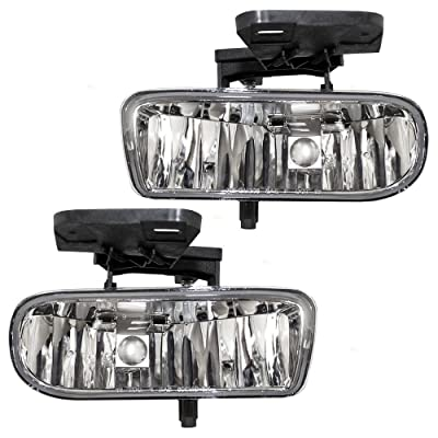 Aftermarket Replacement Driver and Passenger Set Fog Lights Compatible with 1999-2002 Sierra Pickup Truck 10385054 10385055: Automotive [5Bkhe0405301]