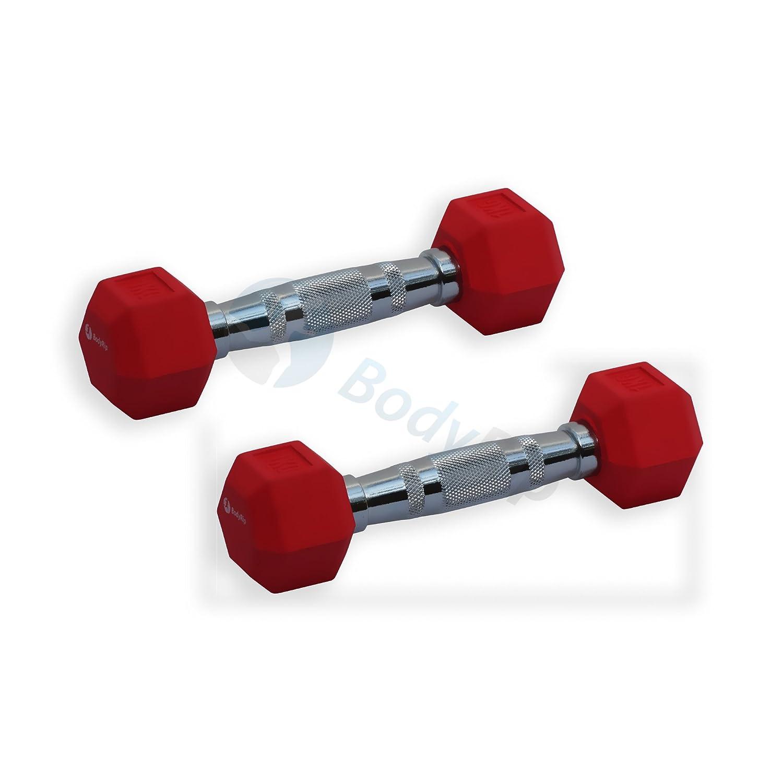 BodyRip - Mancuernas hexagonales (goma, diseño hexagonal ...