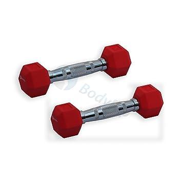 BodyRip - Mancuernas hexagonales (goma, diseño hexagonal (cuadernos de Ergo Pesos Juegos gimnasio de fitness peso: Amazon.es: Deportes y aire libre