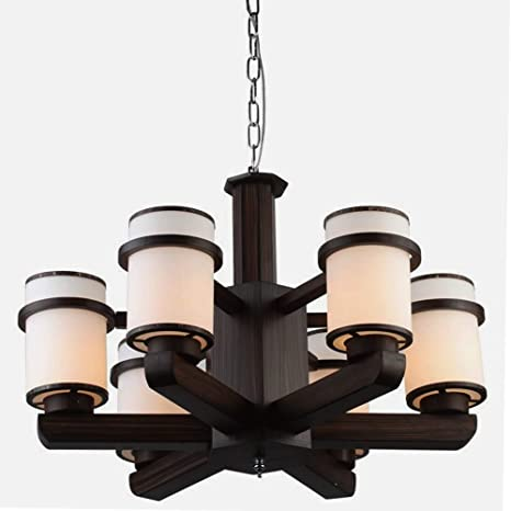 Buy Flourish Home Decor Chandelier Wood And Glass Light For
