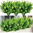 Embalagem com 6 arbustos de madeira falsa de flores artificiais da Temchy, pacote com 6, folhagem de verdura falsa realista c