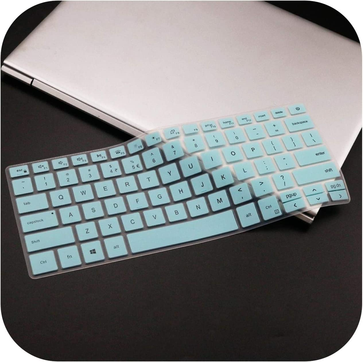for Dell Inspiron 14 5493 5498 L Inspiron 5490 7490 7391 5498 5493 L Inspiron 7490 Silicone Laptop Keyboard Cover Skin Clear