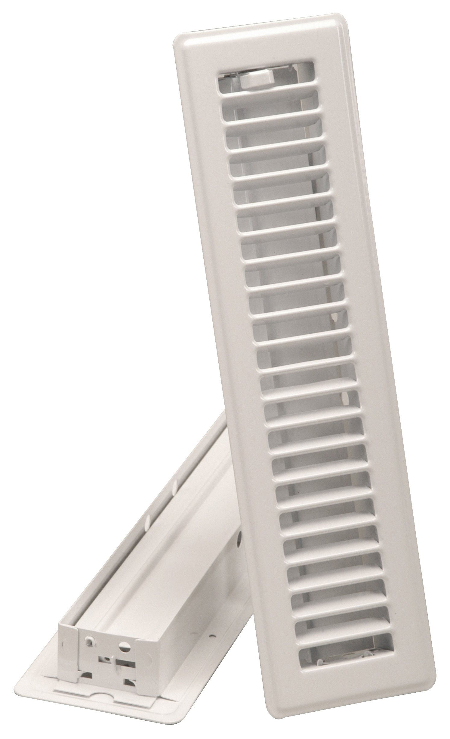 Imperial 2-1/4'' x 12'' Louvered Floor Register, White, RG0179 by Imperial