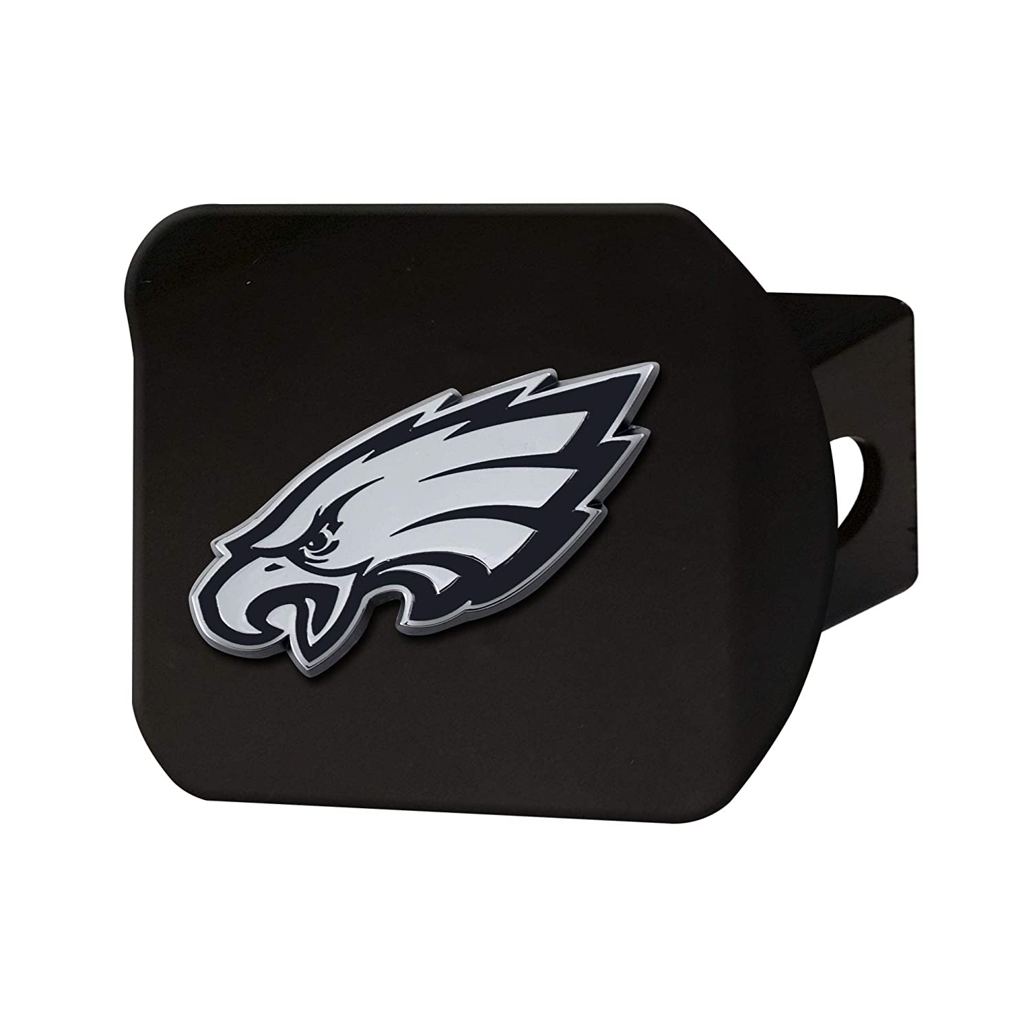 Philadelphia Eagles Black 2 Square Type III Metal Hitch Cover with 3D Chrome Emblem FANMATS 21573 NFL
