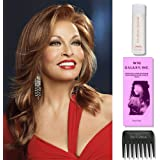 Glitterati by Raquel Welch Wigs, Wig Galaxy Hairloss Booklet, 2oz Travel Size Wig Shampoo, & Wide Tooth Comb (Bundle - 4 Items)