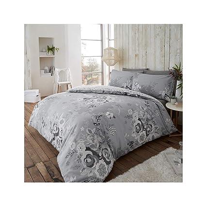 100/% Brushed Cotton Duvet Quilt Set Reversible Bedding Set  Double King
