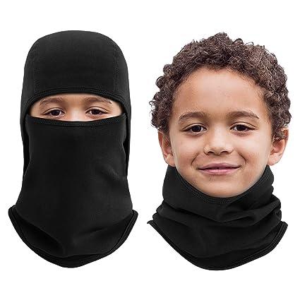 9df7c699ca2f Amazon.com  Aegend kids youth Balaclava Windproof Ski Face Mask for ...