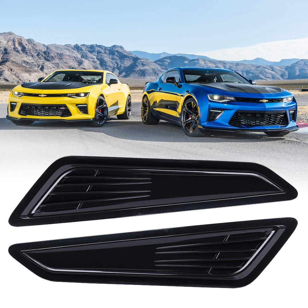 BUNKER INDUST Decorative Air Intake Trim Panel Hood Scoop Bonnet Vent for 2016-2018 Chevy Camaro 1LT/ LS/RS
