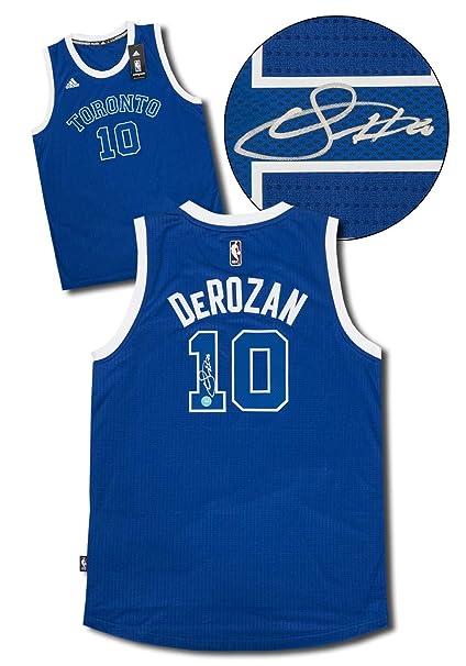 free shipping b5327 d073a Demar DeRozan Toronto Huskies Signed Raptors Retro Adidas ...