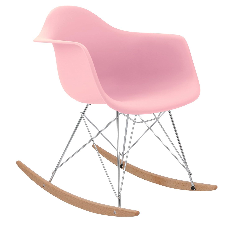 * nuova versione alta * 1950S Inspired designer sedia a dondolo–rosa chiaro–Sedia.Mobili® Chair.Furniture®
