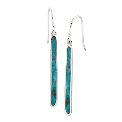 e733293bb Amazon.com: Silpada 'Turquoise Drop' Compressed Turquoise Drop Earrings in Sterling  Silver: Jewelry