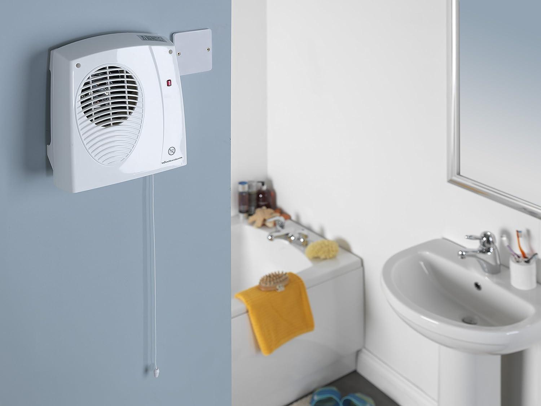 Winterwarm Wwdf20 2 Kw Wall Mounted Downflow Bathroom Fan Heater Wiring White Kitchen Home