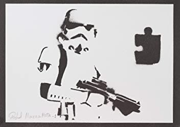 Poster Stormtrooper Star Wars Handmade Graffiti Street Art - Artwork