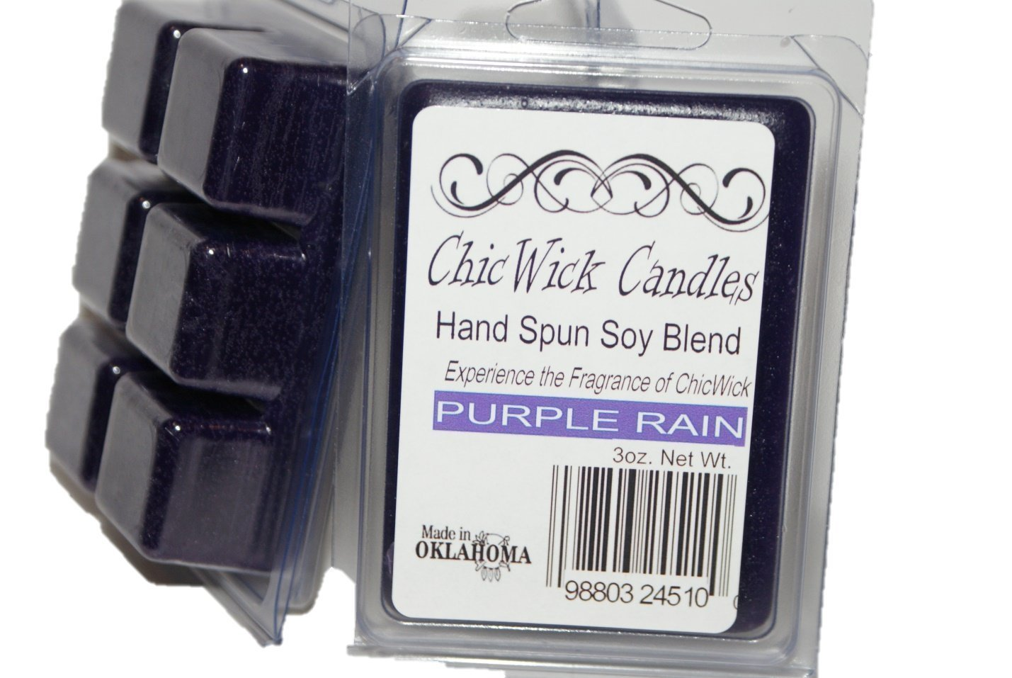 ChicWick Candles 2Pack Purple Rain Soy Blend Wax Melts 6oz 12 Wax Cubes Wax Tarts Wax Chunks 50 Plus Hours of Quality Fragrance
