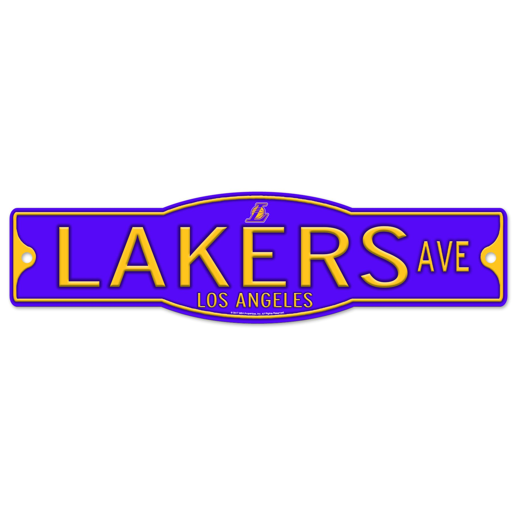 WinCraft Los Angeles Lakers 4'' x 17'' Plastic Street Sign NBA