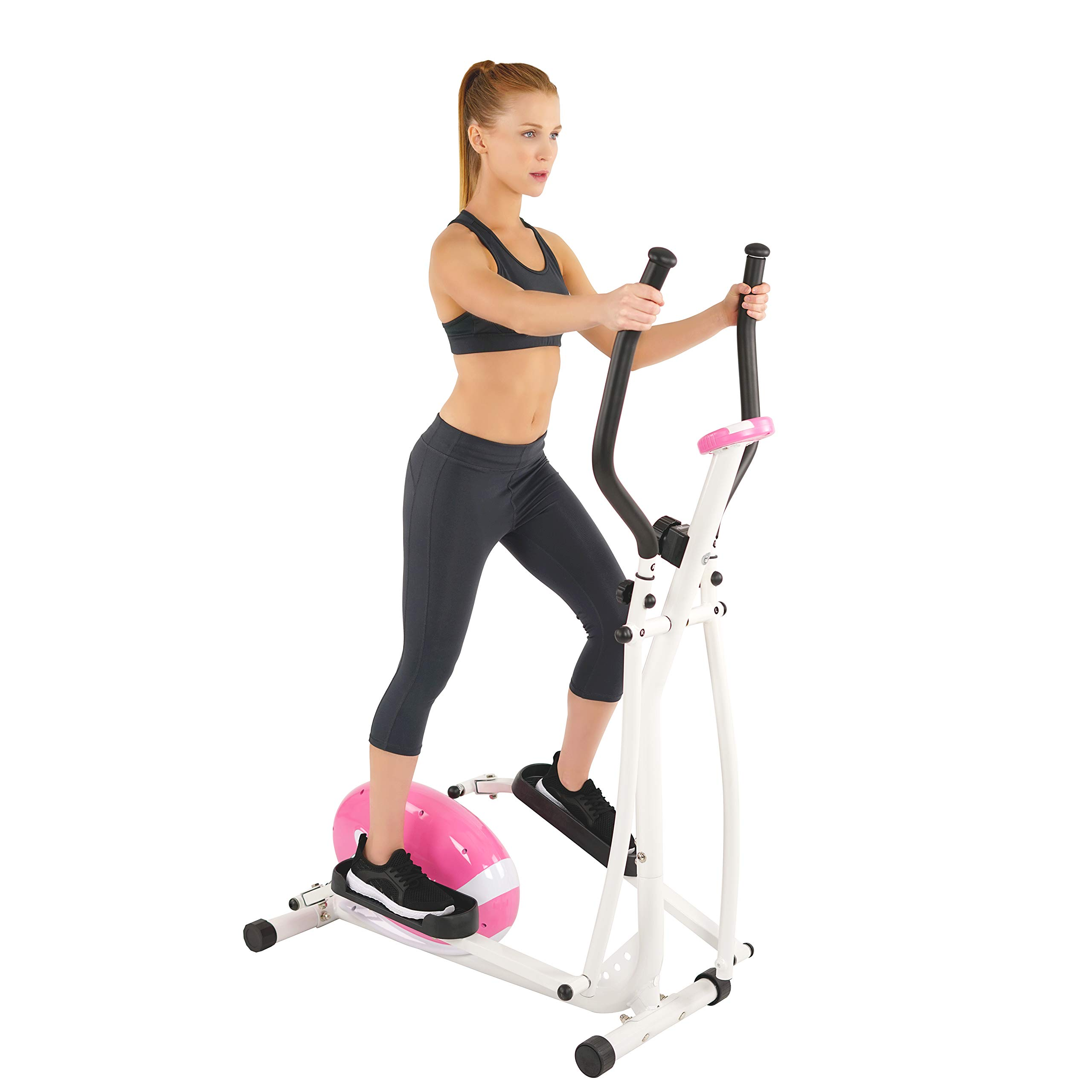 Sunny Health & Fitness P8300 Pink Magnetic Elliptical Trainer Elliptical Machine w/LCD Monitor