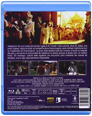 Pasaje a la india [Blu-ray]: Amazon.es: Judy Davis, Victor Banerjee, Peggy Ashcroft, James Fox, Alec Guinness, Nigel Havers, David Lean: Cine y Series TV