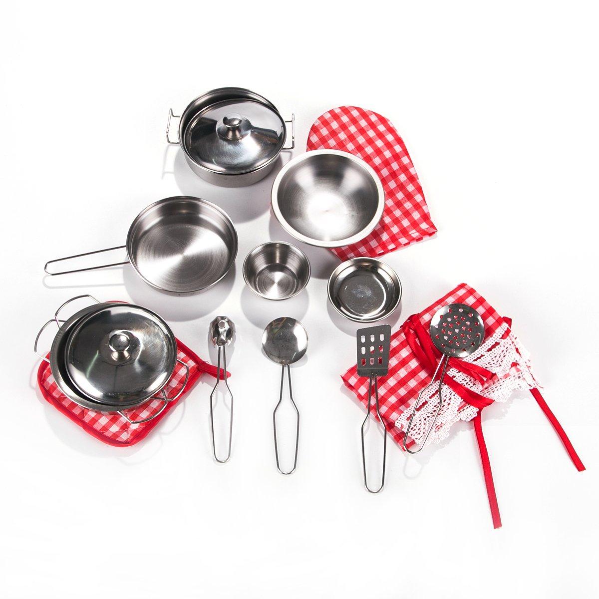 Amazon.com : Toyerbee Pretend Play Toys - Kitchen Toys 16 Pcs ...