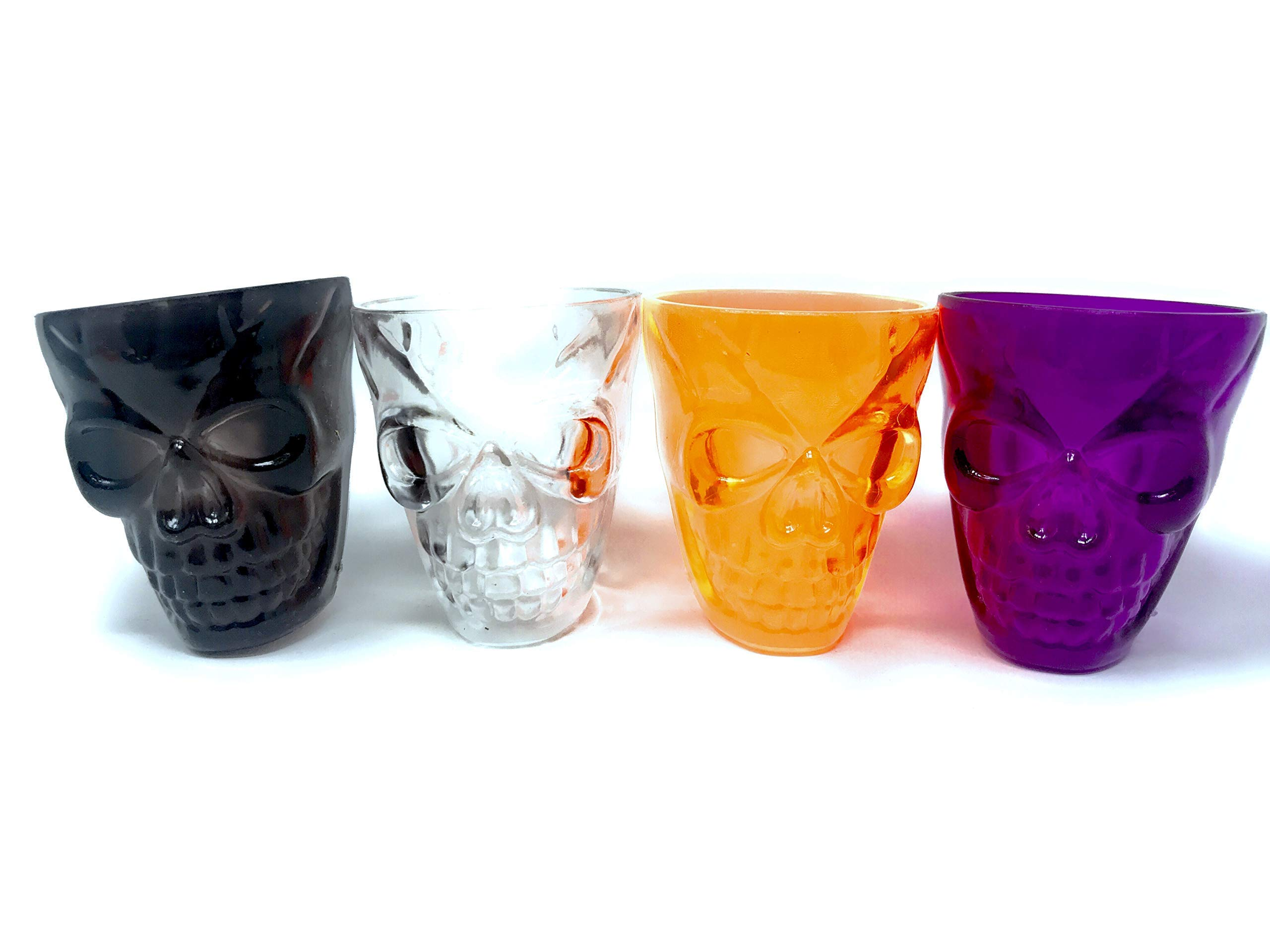 40 Bulk Halloween Skull Party Favor Shot Glasses or Dessert Cups - ideal for kids of all ages by Sea View Treasures