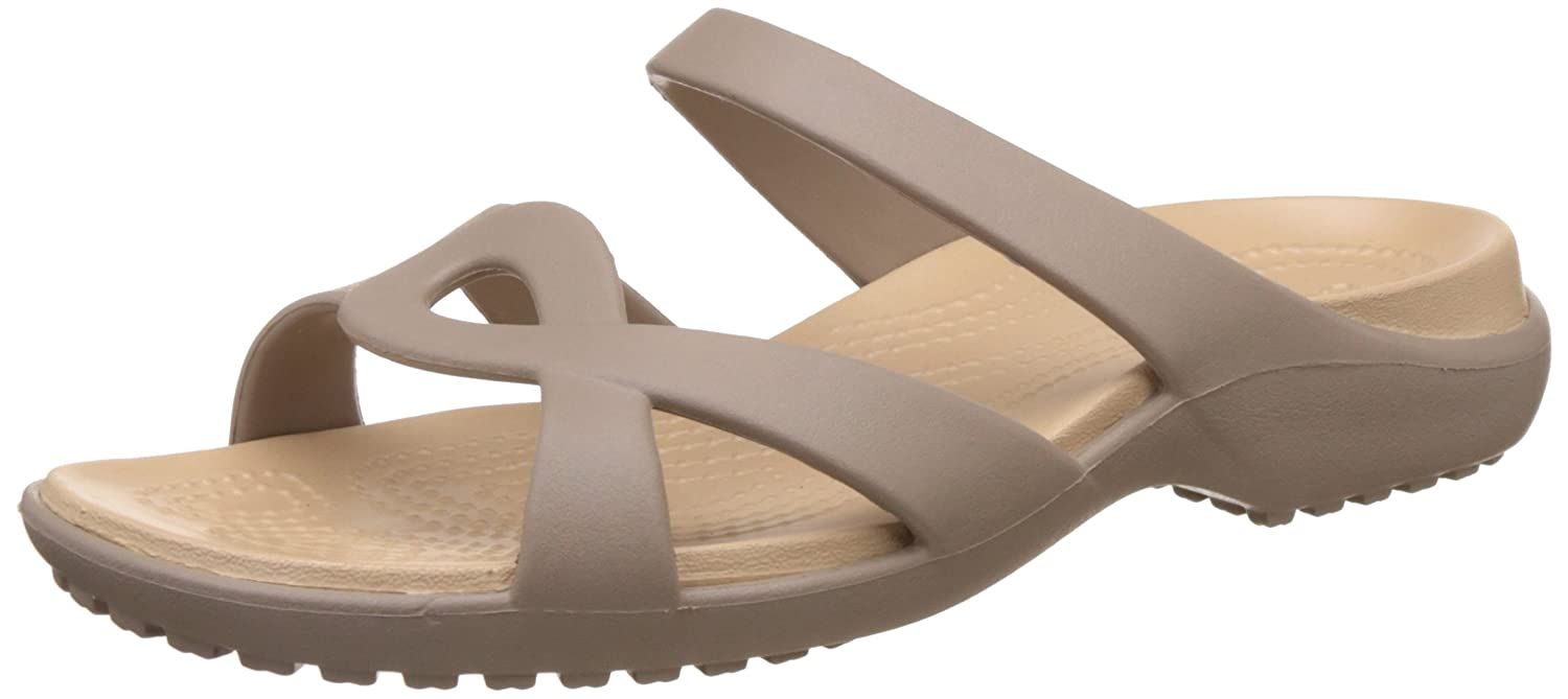 Crocs Meleen Twist, Sandales Bout Ouvert B0034I3FFW Femme, Pearl Sandales Femme, White/Oyster Mushroom/Gold 0475a3c - reprogrammed.space