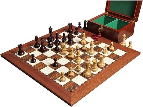 El Juego de ajedrez de Dubrovnik, caja, & Junta combinación – carmesí dorado – por la casa de Staunton: Amazon.es: Deportes y aire libre