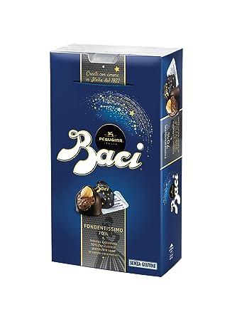 BACI PERUGINA FONDENTISSIMO 70% Cioccolatini al cioccolato fondente extra  ripieno con nocciola 7655d5e9a4c