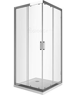 Misure Per Box Doccia.Box Doccia Angolare 75x75 Con Vetro Opaco O Trasparente Disp In