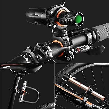 Tubo a Morsetto Leggero Portatile Rotante a 360 Gradi per Telecamera di Movimento Archuu Supporto per Manubrio della Bici