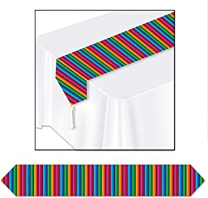 Beistle Printed Fiesta Table Runner, 1 piece