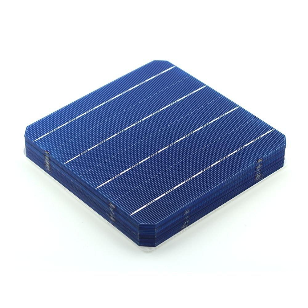 VIKOCELL 40Pcs 156MM Monocrystalline Silicon 6x6 Solar Cells 5W for DIY Solar Panel