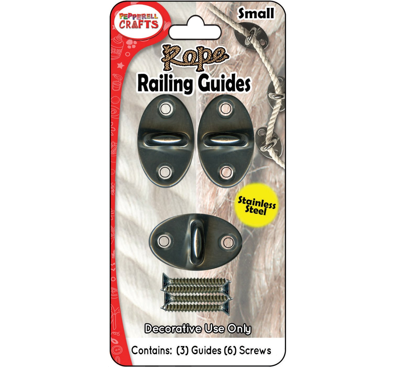 Rope Railing Guides 3/pkg-Small