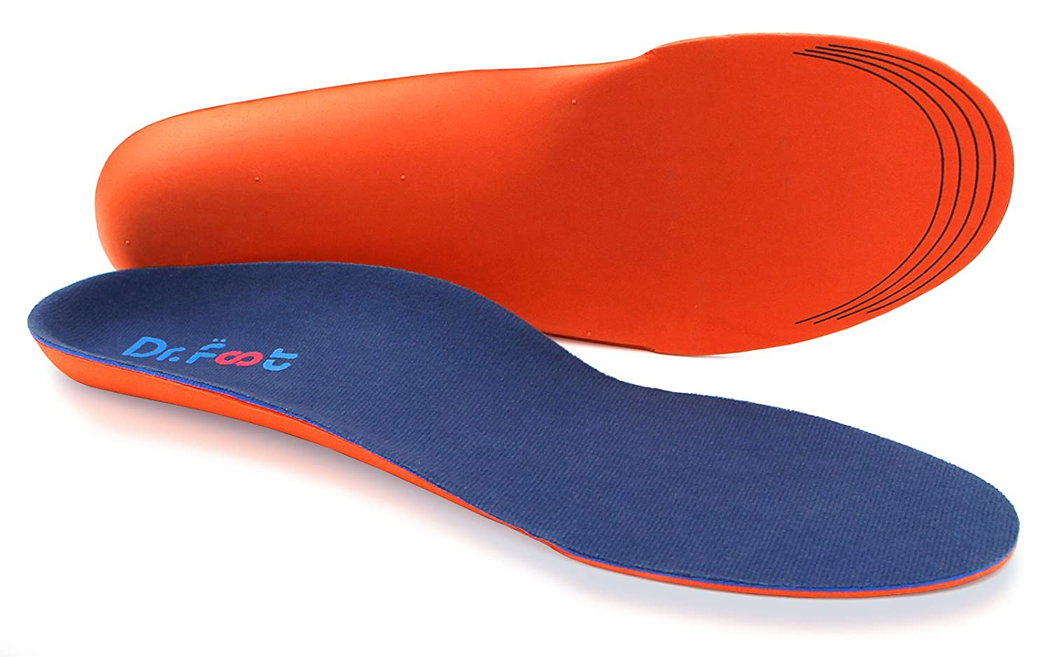 1f936a30616 Dr. Foot's Orthotics Insoles for Flat Feet - Arch Support Shoe Inserts for  Plantar Fasciitis, Foot & Heel Pain,...