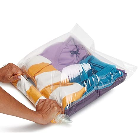 015a9f63e812 Lekors - Travel Space Saver Bags - 5 Medium and 5 Large Roll Up Storage  Bags - Pack of 10 Compression Packing Bags - Double Zipper - Reusable - No  ...