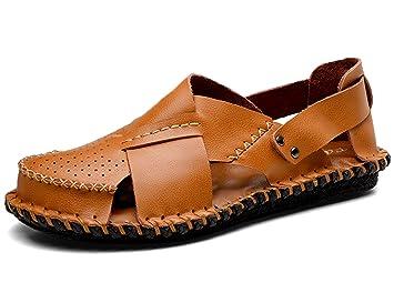 LEDA AIR Männer Echt Leder Sandale Sommer Sandale EN PLEIN AIR LEDA ... b27ba2