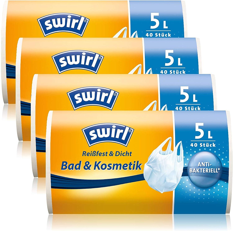 Swirl 4x Tragegriff Müllbeutel 20L  Mit antibakterieller Wirkung 20 stk.Roll NEU