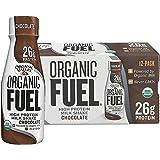 Organic Valley Fuel, Organic Milk Protein Shake, Chocolate, 11 oz (Pack of 12)